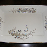 Large China Meat Platter John Maddock & Sons, England