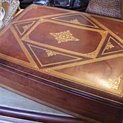 SALE Vintage Italian Leather Box