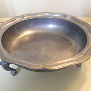 SALE Heavy Footed Pewter Bowl