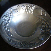 The Wilton Co. Vintage Pewter Bowl with Fruit