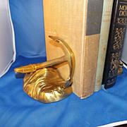 Vintage Nautical Decor Brass Anchor Bookends