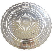 Pattern Glass Torte Plate