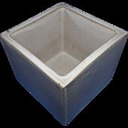 Bennington Potters Modern Period Cube Vase / Planter