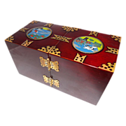 Oriental Lacquered Rosewood Jewelry Box