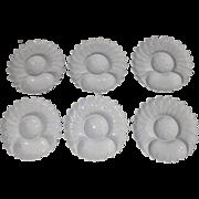 Set of 6 Vintage Bassam Porcelain Artichoke Plates