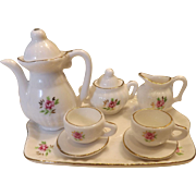 Hand Painted Porcelain Doll Tea Set