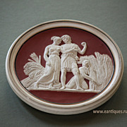 19th Century Classical Bas-Relief Wall Plaque #1