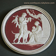19th Century Classical Bas-Relief Wall Plaque #2