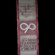 19th Century Victorian English Darning & Stitch Sampler