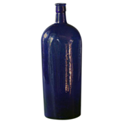 SOLD Antique English Apothecary / Chemist Bottle - 19th Century Cobalt Blue Glass