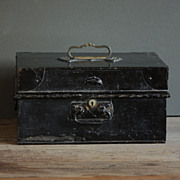 Antique / Vintage Industrial English Document Deeds Box