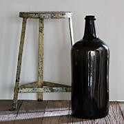 18th Century Italian Wine Demijohn - Antique Glass Bottle Carboy