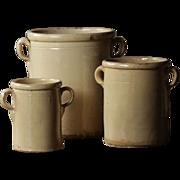 SOLD Antique Italian Confit Pots - 19th Century Terracotta Preserve Jars