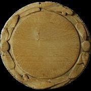 19th Century English Carved Breadboard- Antique Treen Bread Board