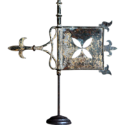 Antique French Copper weathervane - 19th C Bannerette / Banner