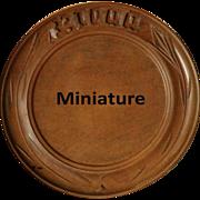 SALE PENDING Antique MINIATURE English Carved Breadboard - Salesman's / APPRENTICE Treen Bread