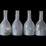19th Century French Glass Liquor / Spirits / Wine Bottles - Antique Cognac Bottles