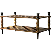 SOLD Antique English Treen Egg Stand / 19th Century Wooden Egg Rack