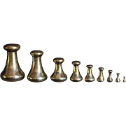 Antique English Avery Brass Weights for Scales