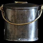 19th Century English Brass & Steel Dairy Milk Can