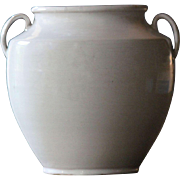 19th Century French White-Glazed Earthenware CONFIT Pot #2