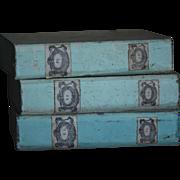 Antique Italian Folio Document Boxes - c.1900 Portfolio Cases / Folders