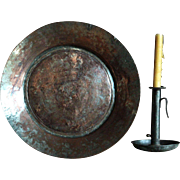 18th Century Ottoman Copper Plate - Antique Tinned Copper Serving Dish