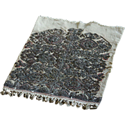 19th Century Antique Ottoman Balkan Embroidery - Silver Metal / Linen Textile