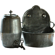 Antique Continental Pewter Lavabo - Fountain