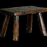 Antique 19th Century English Elm Stool