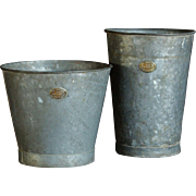 Antique English Hassocks Flower Bucket - Antique Zinc Florist's Buckets