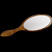 Antique English Hand Held Vanity Mirror - Victorian Late 19th Century
