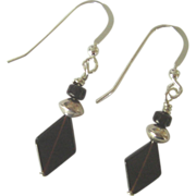 Black Onyx/Sterling Silver Dangle Earrings