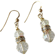 Crystal and Rhinestone Earrings