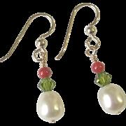 Freshwater Pearl/Crystal Earrings