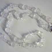 Frosted Quartz Nugget Necklace