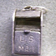 US Mail Box Charm Sterling Silver    Movable