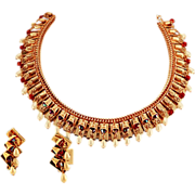 Fit for a Queen Hobe Earrings and Necklace Set