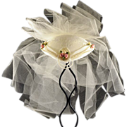 Sweetest Juliet-Style Wedding Cap with Rose Motif