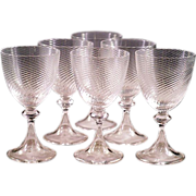 Rare Tiffany Crystal Exquisite Acid Etched Signed Set of Six Crystal Cordial Glasses Beautiful