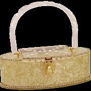 Ultra-Glam Patrica of Miami Vintage Extra Special Confetti Lucite Box Purse