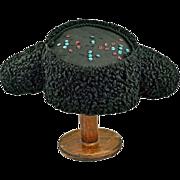 Vintage Montera Spanish Persian Lamb's Wool Matador's Hat