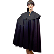 Dramatic El Corte Ingles of Spain Wool Reg and Black Cape