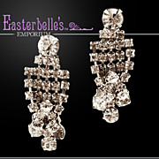 Sparkling Brilliant Clear Rhinestone Clip Earrings