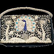 Beautiful Bohemian Embroidered Peacock Handbag