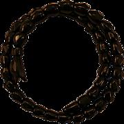 Victorian Jet Coiled Snake Mourning Bracelet Great Find