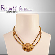 Stylish, Sexy Victorian Brass Necklace
