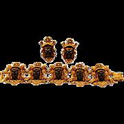 Dramatic Selro/Selini Bracelet and Earrings Blackamoor Demi-parure Set