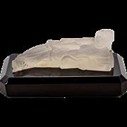 Collectible, Elegant Art Deco Satin Glass Chinoiserie Figurine