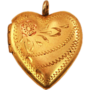 Sweet Sentimental Very Vintage 10k Gold-Filled Heart Locket